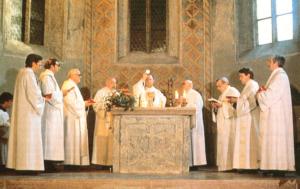 Konventmesse mit Konzelebration durch Erzabt und Konvent in der Marienkapelle von St. Peter in Salzburg