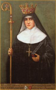 Die Äbtissin von Frauenchiemsee, M. Placida von Eichendorff, mit Krone und Bischofsstab (1920)