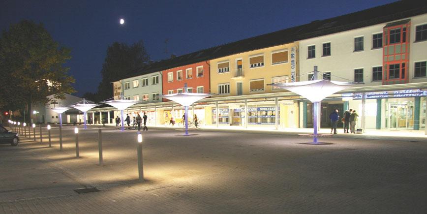 Traunreut, Stadtplatz © Stadt Traunreut