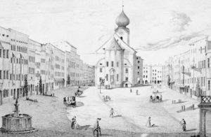 Traunstein im Inn-Salzach-Stil 'am Vorabend´ des Brandes von 1851. © Stadtarchiv Traunstein