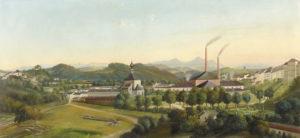 Die Saline in der Au um 1890. © Stadtarchiv Traunstein