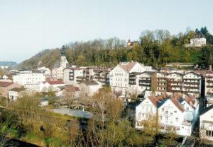 "Altstadt mit ""Trostberger Orgel"". © Stadt Trostberg"