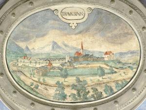 Traunstein: Deckengemälde Hans Dornauers im Antiquarium der Münchner Residenz um 1590. © H. Dopsch/J. Lang