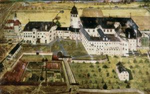 Das ehemalige Augustiner-Chorherrenstift St. Zeno, um 1654. © J. Lang