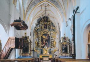 Die Klosterkirche mit dem barocken Hochaltar © C. Soika