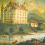 Historische Ansicht des Schlosses Goldenstein © K. Birnbacher