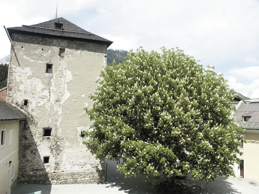 Der ehemals chiemseeische Kastenturm aus dem 13. Jh. © Ingrid Strauß