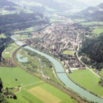 Luftaufnahme von Bischofshofen gegen Süden, 2001 © Fritz Hörmann