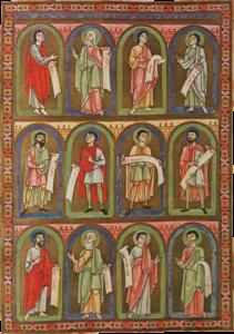 Prophetendarstellungen aus der Walther-Bibel im Kloster Michaelbeuern, Mitte 12. Jh.