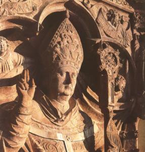 Denkmal für Erzibischof Leonhard von Keutschach (1495-1519), der sich entschieden der Säkularisation des Domkapitels widersetzte, auf der Festung Hohensalzburg