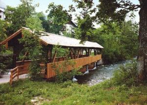 1999 mit EU-Geld aus dem INTERREG-Programm saniert, der Triftsteg in Schönau am Königssee © Tourist-Information Schönau a. Königssee