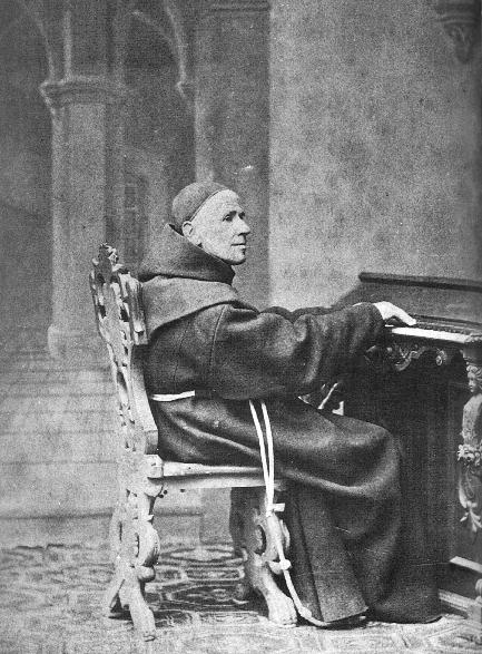 Pater Peter Singer, 1810 - 1881 an dem von ihm konstruierten Pansymphonium © C. Schneeweiss