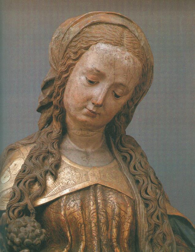 J. B. Fischer von Erlach hat die spätgotische Marienfigur vom Flügelaltar des Michael Pacher übernommen © C. Schneeweiss