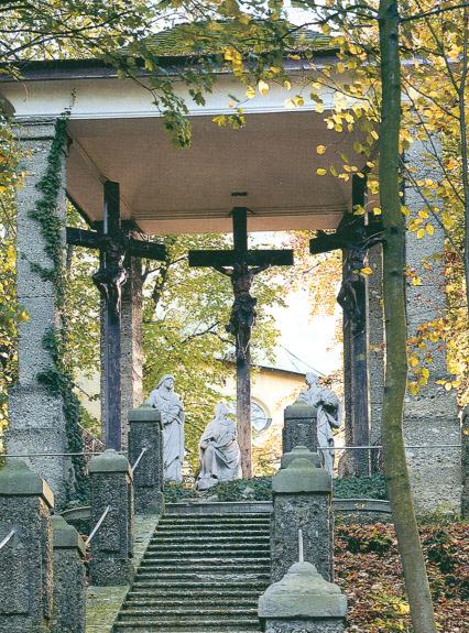 Barocke Kreuzigungsgruppe, Figuren von Franz Hitzl 1780 © C. Schneeweiss