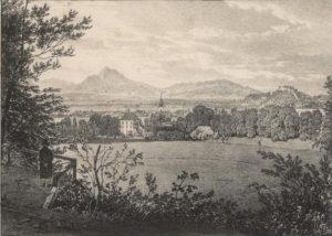 Aigen, Lithographie um 1850 © J. Lang
