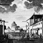 Loretokirche und Kloster. Kupferstiche von Frabz Anton Danreiter, um 1735. © K. Birnbacher