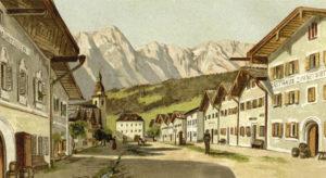 Der Marktplatz von Kuchl um 1900. © SLA, Album 021/11, Reproduktion SLA