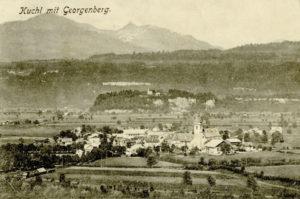 Kuchl mit Georgenberg, vor 1900. © SLA , Fotosammlung A 01776, Reproduktion SLA
