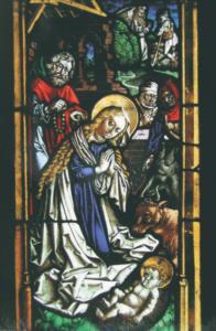 Glasgemälde im gotischen Chor Christi Geburt. Peter Hemmel v. Andlau ca. 1480