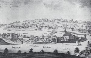 Laufen, Ansicht von 1569. © S. Schwedler