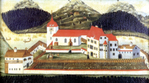 Alte Ansicht des Benediktinerprioriats St. Ulrich am Pillersee © J. Lang