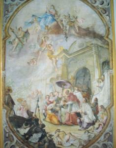 Deckengemälde in der Schlosskapelle © C. Soika
