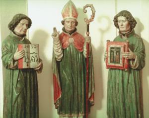 Rupert, Gislar und Chuniald vom ehemaligen Rupertusaltar im Salzburger Dom (um 1440) © H. Dopsch