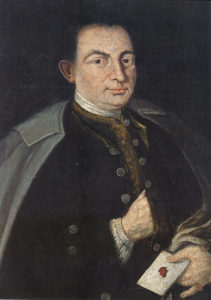 Der Schellenberger Verleger Clement Krueger. (Ölgemälde aus der 2. Hälfte des 18. Jahrhunderts im Heimatmuseum Berchtesgaden). © Oskar Anrather