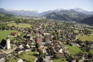 Oberalm aus der Luft gegen Süden (heute). © Marktgemeinde Oberalm