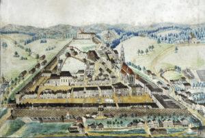 Ansicht der Stadt von Osten, um 1820. © S. Schwedler