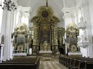 Inneres der 1682/83 erbauten Allerheiligen-Kirche. © S. Schwedler