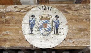 Schützenscheibe mit bayerischem Wappen, um 1811/12. © S. Schwedler