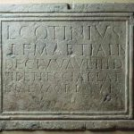 Grabinschrift des Lucius Cotinius Martialis © O. Harl 2003