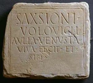 Grabinschrift des Saxsio - Titulus © O. Harl 2004