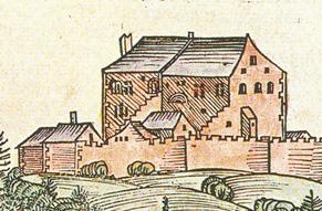 Hohensalzburg auf der Darstellung der Schedel'schen Weltchronik 1493 © J. Lang/Stadtarchiv Bad Reichenhall