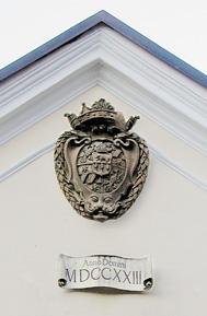 Wappen am Kirchbergschlössl in Bad Reichenhall © H. Guggenberger