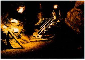 Im Inneren des mittelalterlichen Stollensystems- Schaubergwerk © Museum Leogang
