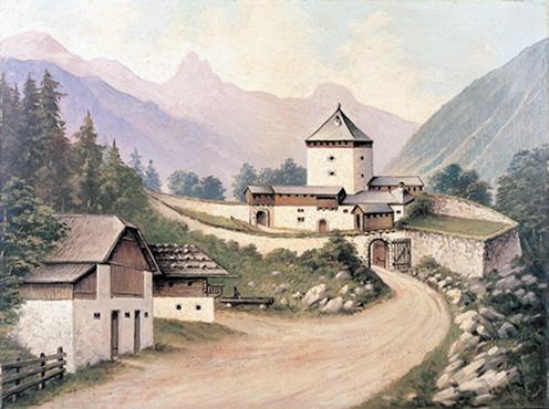 Noch 1809 war der Pass Luftenstein eine heftig umkämpfte Talsperre. © J. Lang/Stadtarchiv Bad Reichenhall