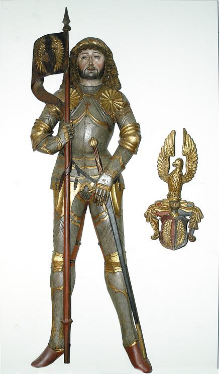 Luitold III. von Plain († 1219) als hölzerne Skulptur seines ehemaligen Hochgrabes im Stift Höglwörth, vermutlich 14. Jh. © J. Lang/Stadtarchiv Bad Reichenhall