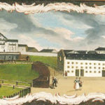 Alte Ansicht der Salinenanlage © Stiftung Heimathaus Traunstein