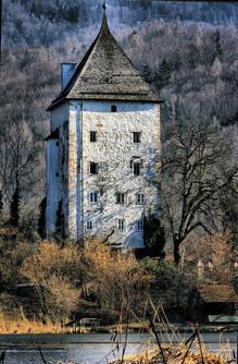 Namengebender Wohnturm der Herren von Thurn, St. Jakob am Thurn © J. Lang/Stadtarchiv Bad Reichenhall