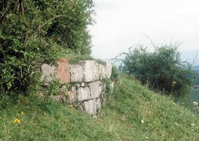 Mauerreste am Schlossberg Tettelham © C. Soika