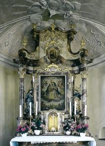 """""""Maria Dorfen"""" Altar von 1778 mit dem Gnadenbild von 1722 © Prälat Walter Brugger"""