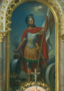 Der hl. Florian auf dem Altarblatt © J. Neuhardt