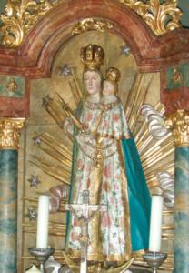 Madonna im Altar über der Quelle © C. Soika