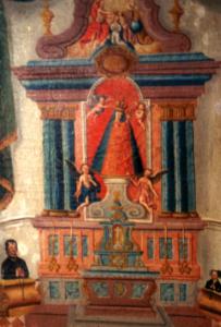 Votivbild mit Gnadenbild und Altar © J. Lang