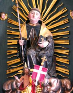 Die spätgotische Figur des Viehpatrons St. Leonhard © H. Roth
