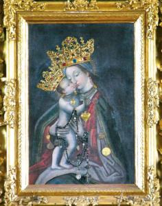 Das Gnadenbild im Hochaltar von 1722 © H. Roth