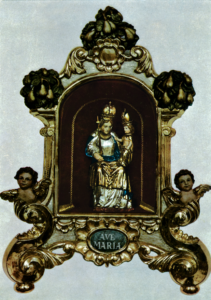 Kopie der Ettaler-Madonna aus dem Holz des Birnbaumes © H. Roth