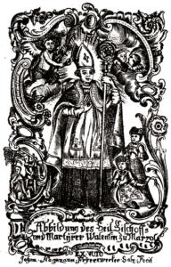 Andachtsbild des hl. Valentin von Marzoll © J. Lang